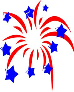 Fireworks clipart shooting star Stars clip clip red
