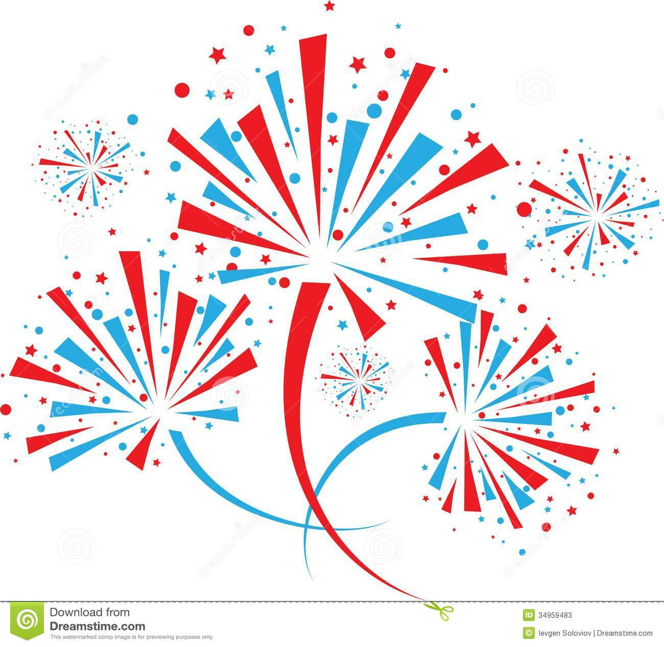 Fireworks clipart shooting star Fireworks color clipart clipart Google