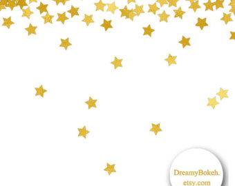 Shooting Star clipart star confetti Jpg inch foil Etsy borders