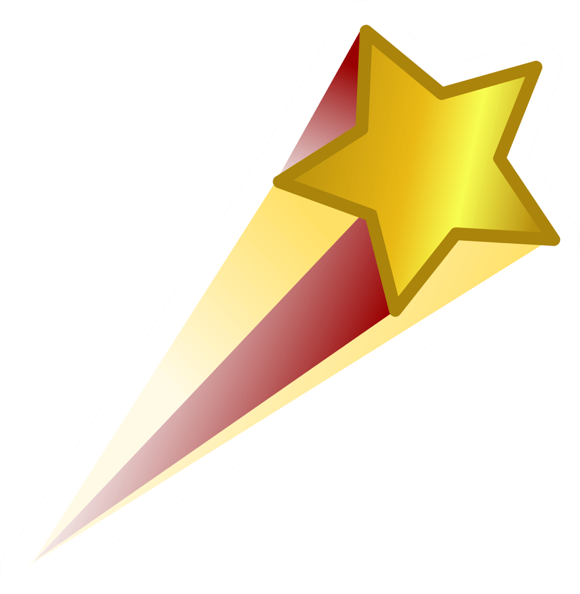 Shooting Star clipart golden star StickPNG transparent Gold Star Red