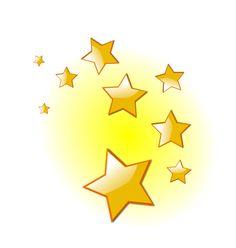 Falling Stars clipart golden star Clip Pinterest Stars Online Art