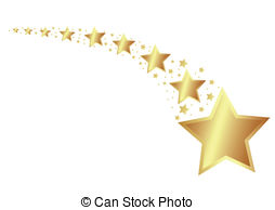 Falling Stars clipart golden star Gold Shooting Clipart star Pictures