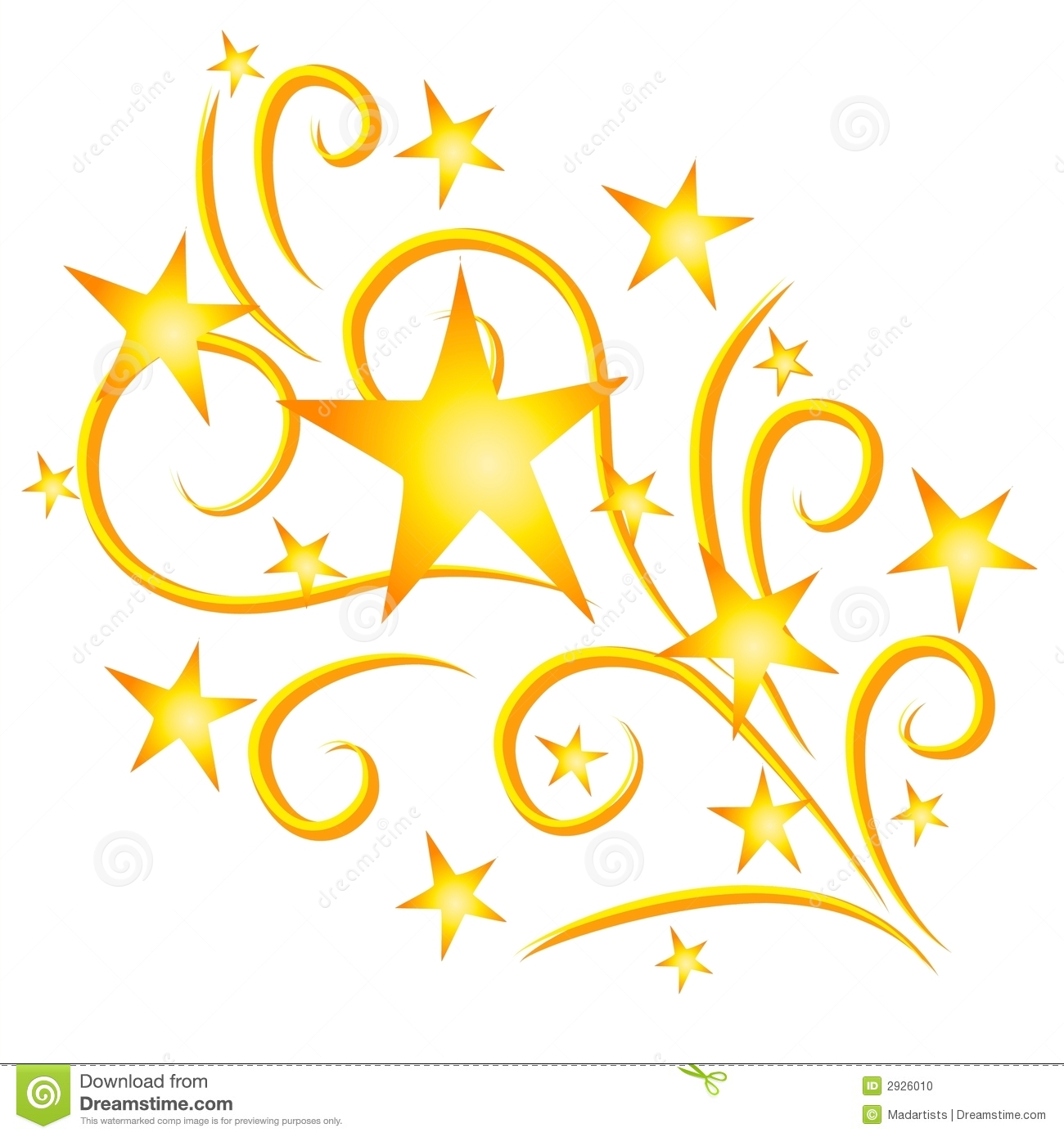 Shooting Star clipart star explosion  Gold Shooting 2926010 Image: