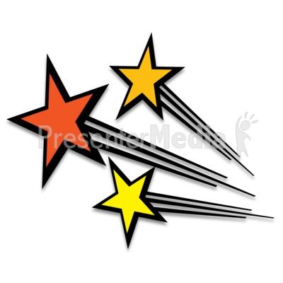 Falling Stars clipart line art  Art Shooting for Shooting