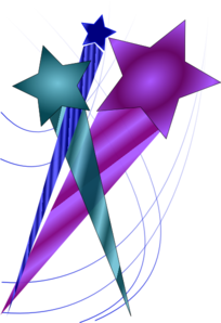 Shooting Star clipart colorful Shooting Stars vector Stars Clip