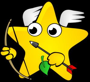 Falling Stars clipart line art Clip Shooting Star online vector