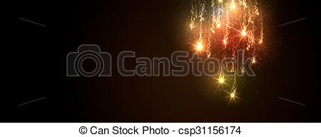 Falling Stars clipart meteor Golden Vectors Abstract Illustration Firework
