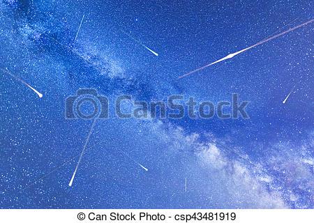Falling Stars clipart meteor Meteor csp43481919 Perseid Stock in