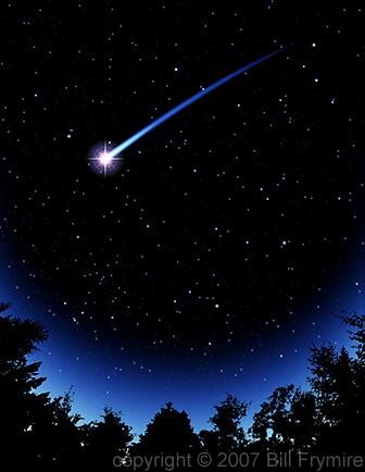 Falling Stars clipart night star Trees Silhouette shooting head shooting