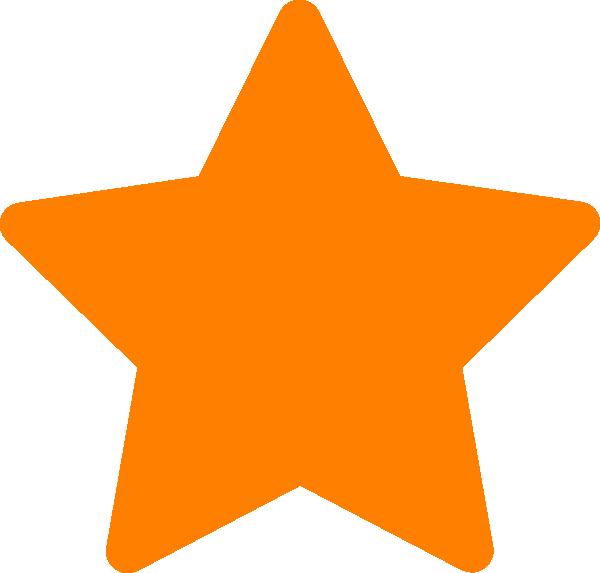 Stars clipart orange Vector clip Clip royalty image
