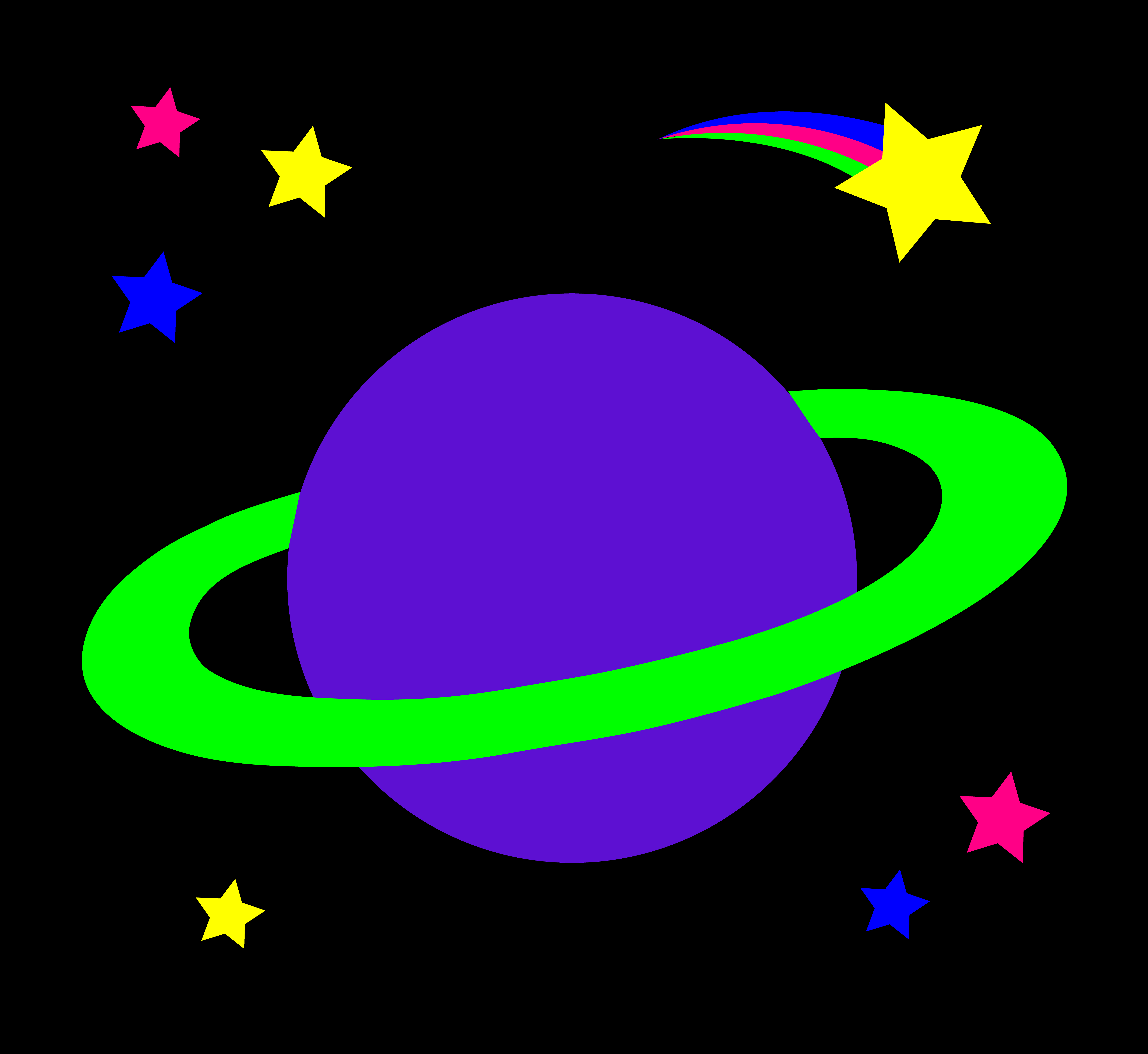 Shooting Star clipart outer space Colorful Planet Stars Planet Ringed