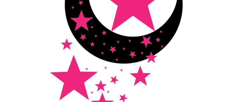 Falling Stars clipart pink Vector Pink with Stars with