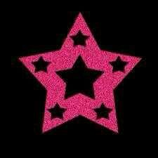 Falling Stars clipart pink STARS Star BLACK ta3tp199 PINK