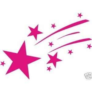 Shooting Star clipart pink Motorbike pink star Car pink: