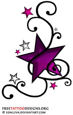 Shooting Star clipart single Shooting Nautical Tattoos Best and