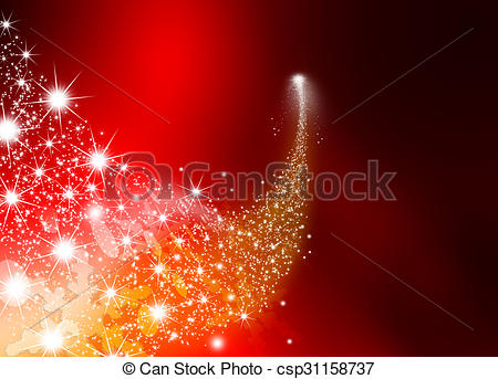 Shooting Star clipart outer space Abstract Bright Twinkling Star Red