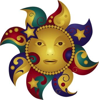 Triipy clipart vintage sun Art Sun art Sun And