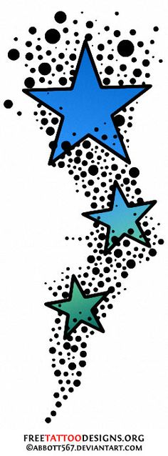 Falling Stars clipart row star And Tattoos Nautical Stencil for