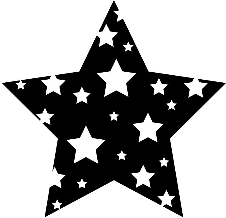 Falling Stars clipart row star Starry Black Star Clip and