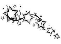 Falling Stars clipart row star  Star Tattoo TattooShooting tutorial