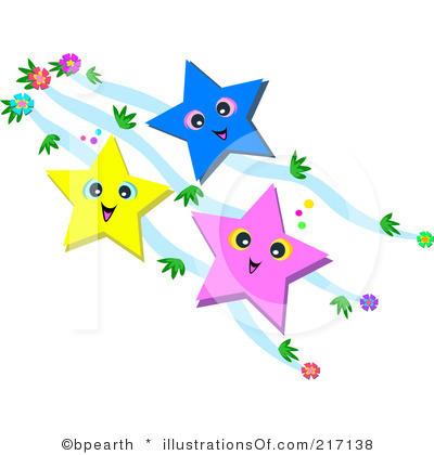 Falling Stars clipart row star Borders Free Stars Panda Art
