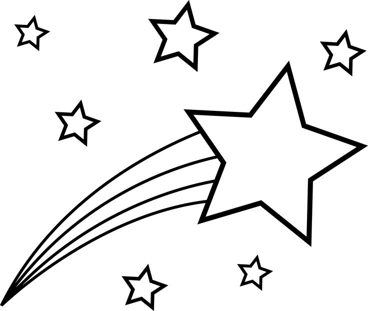 Shooting Star clipart shining star Star collection Outline and clipart