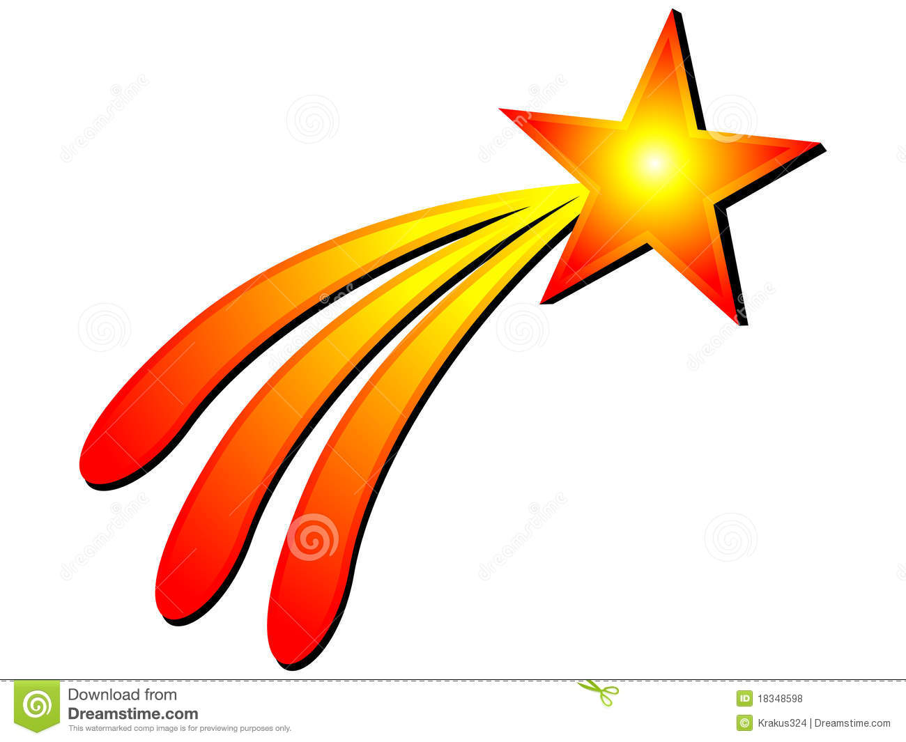 Orange clipart shooting star Clipart Collection Star www Clip