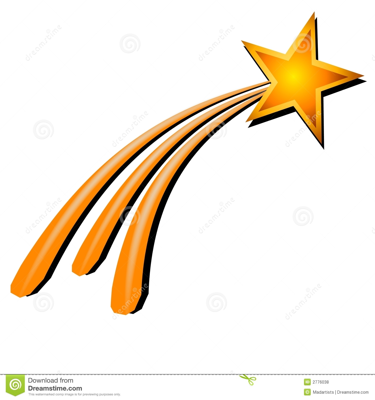 Fun clipart shooting star In clipart THE background no