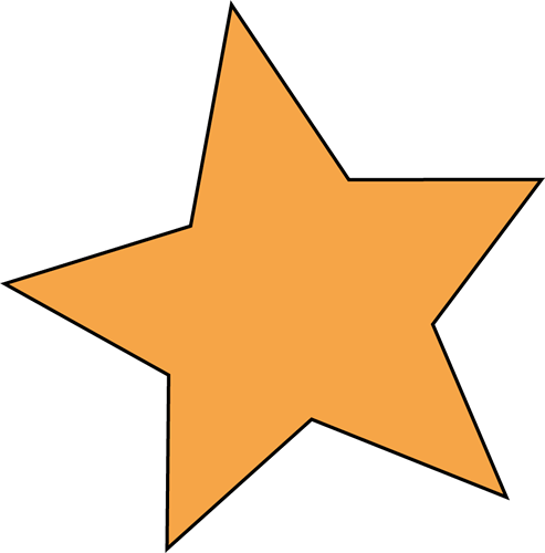 Stars clipart orange On transparent on Pie Clipart