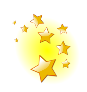 Shooting Star clipart golden star Art domain royalty clip Star