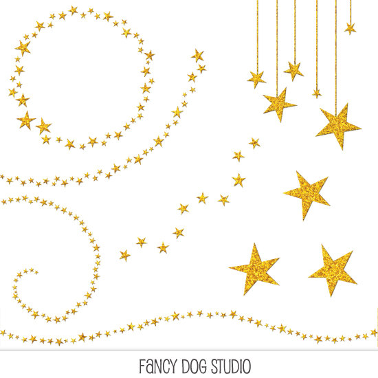 Shooting Star clipart twinkle star Gold Sparkly Gold Art Art