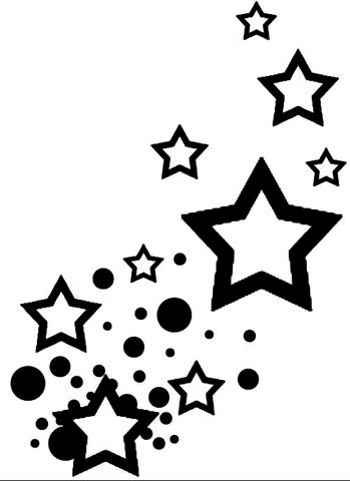 Falling Stars clipart star outline Stars images Heart And use