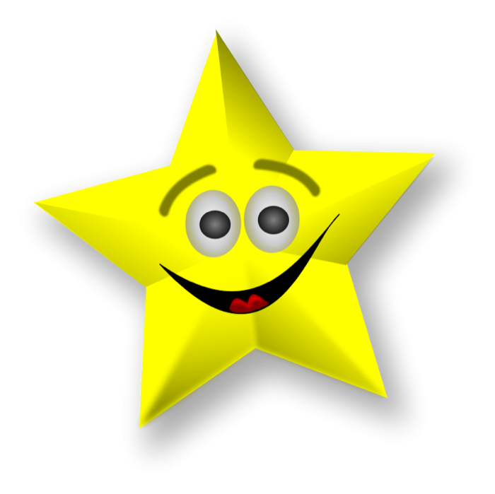 Smiley clipart gold star Of Smiling Gold Star Stars