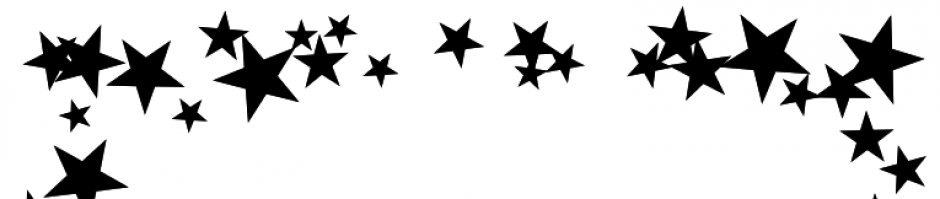 Shooting Star clipart star shine Border black clipart and white