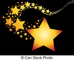 Falling Stars clipart star trail And royalty star Stock Stars