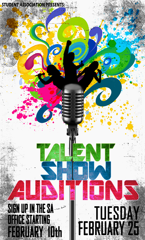 Falling Stars clipart talent show Poster Talent Promo show Behance