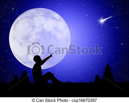 Falling Stars clipart the sky clip art Csp16670397 Illustration of  stars