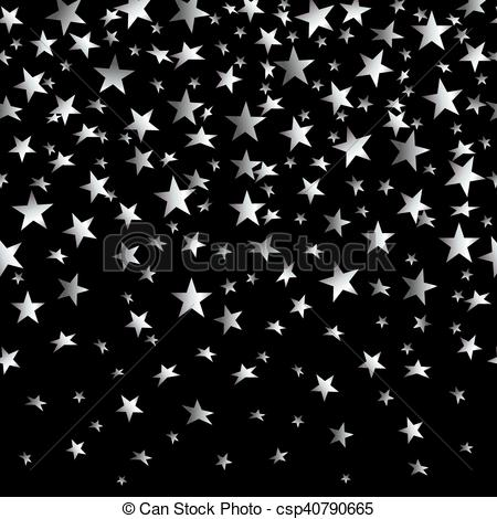 Falling Stars clipart the sky clip art Falling  background silver background