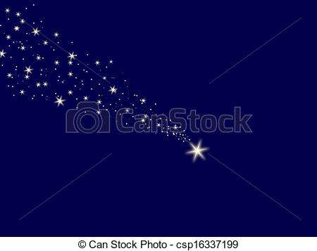 Falling Stars clipart the sky clip art Star Illustration blue night