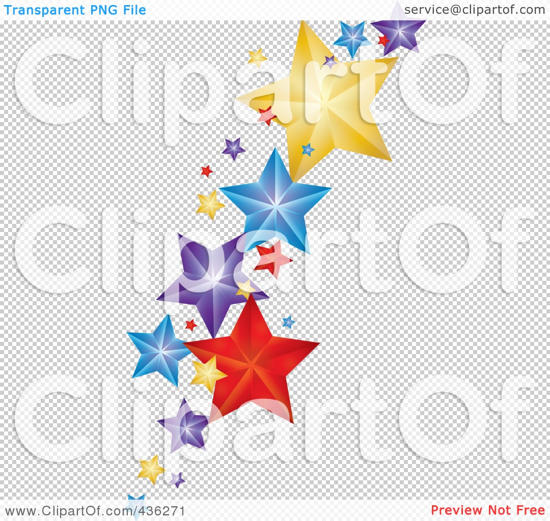 Falling Stars clipart transparent background Transparent star background in Stars