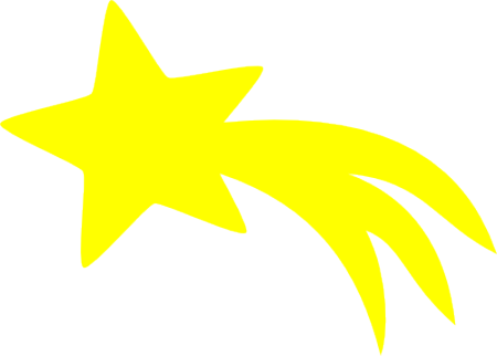 Falling Stars clipart transparent background And Star Shooting By star