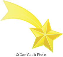Shooting Star clipart wishing star Vector star Abstract clip Falling