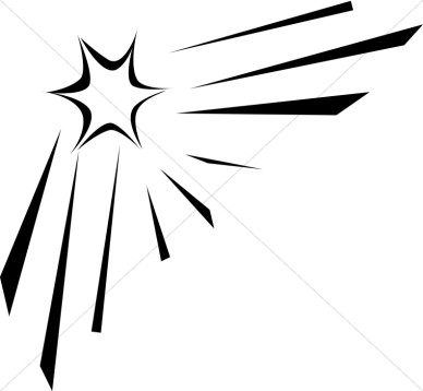 Shooter clipart black and white Star star Shooting and free
