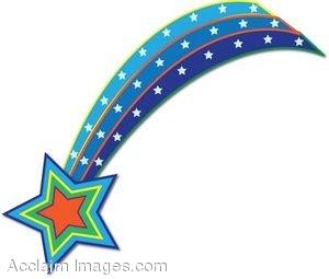 Falling Stars clipart xmas  Shooting school Pinterest a