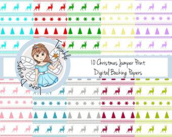 Falling Stars clipart xmas Paper Christmas Shooting Pack Print
