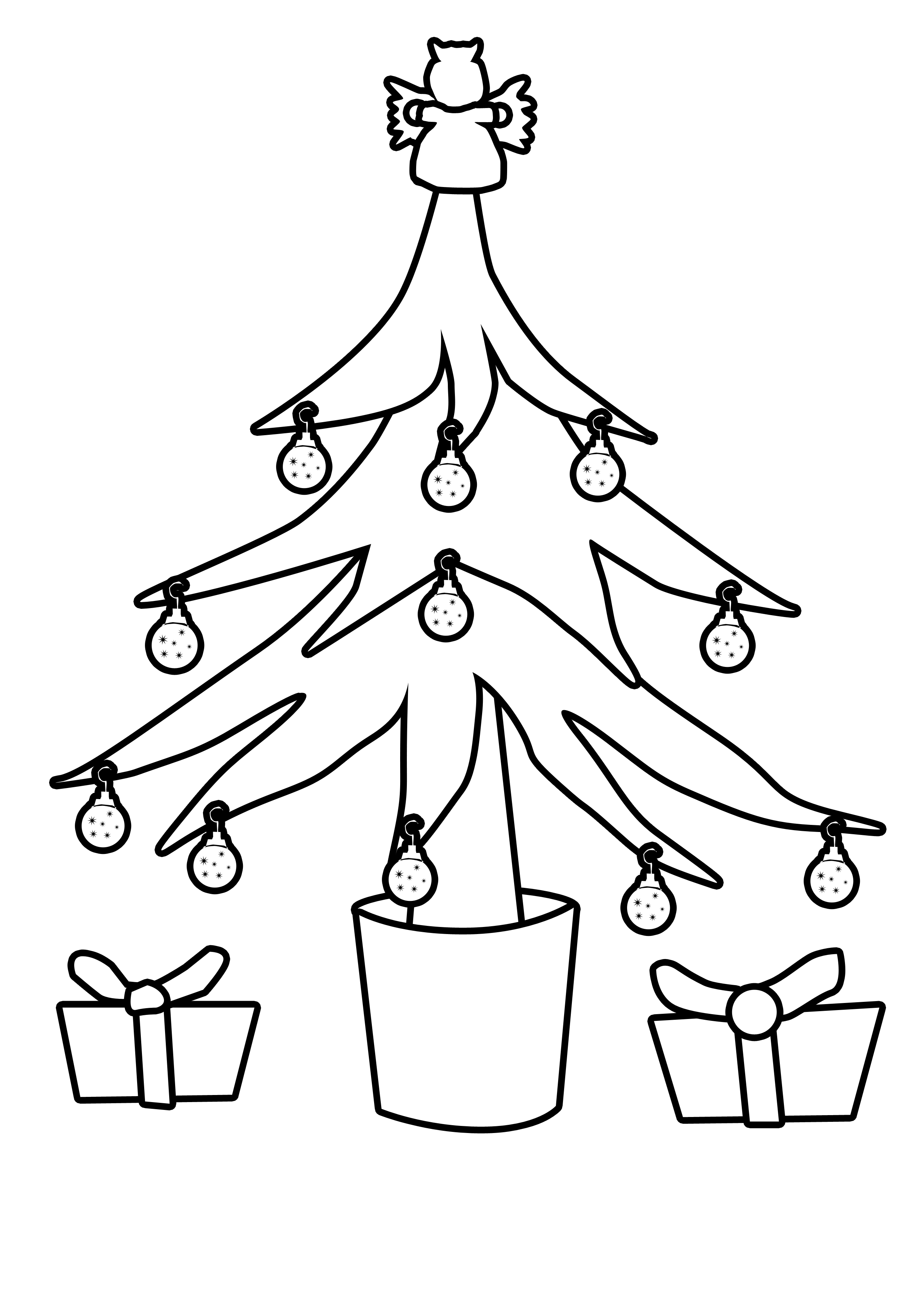 Falling Stars clipart xmas Tree collection christmas Christmas outline
