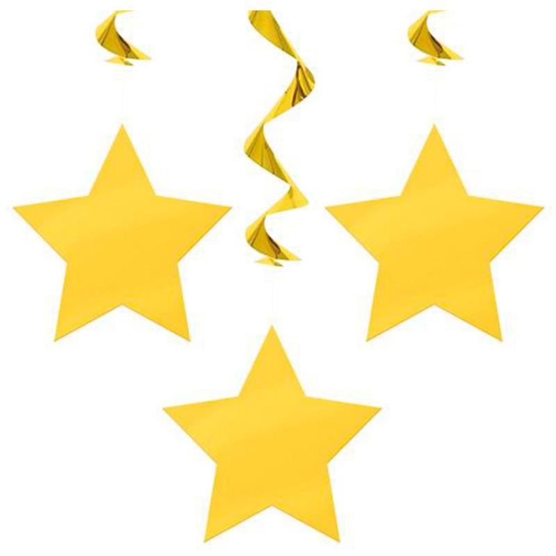 Falling Stars clipart yellow star Art Free Shooting Free Clipart