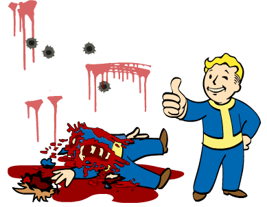 Fallout clipart dead (perk) Mess Wikia Bloody powered