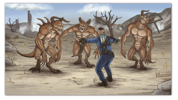 Fallout clipart fallout 2 Fallout Print  Trainer Deathclaw