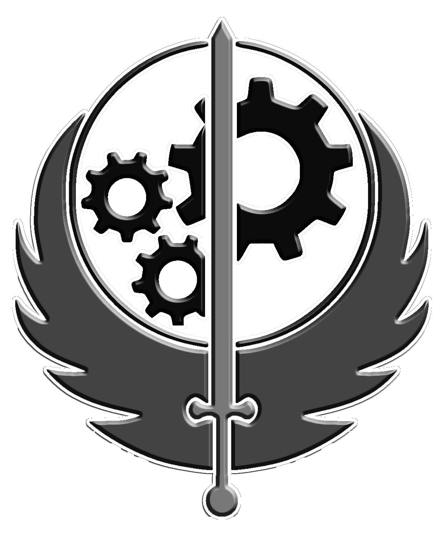 Fallout clipart logo Fandom powered BoS logo Image